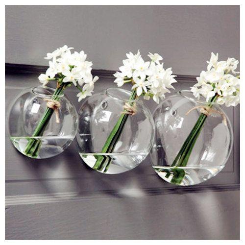 Glass Air Plant HoldersWall Glass VaseWall Bubble Terrarium - Indoor wall decorations