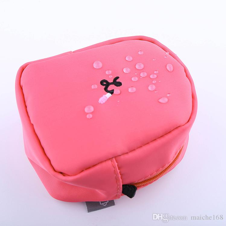 Coréia portátil trompete bolsa de maquiagem à prova d 'água batom simples mini saco