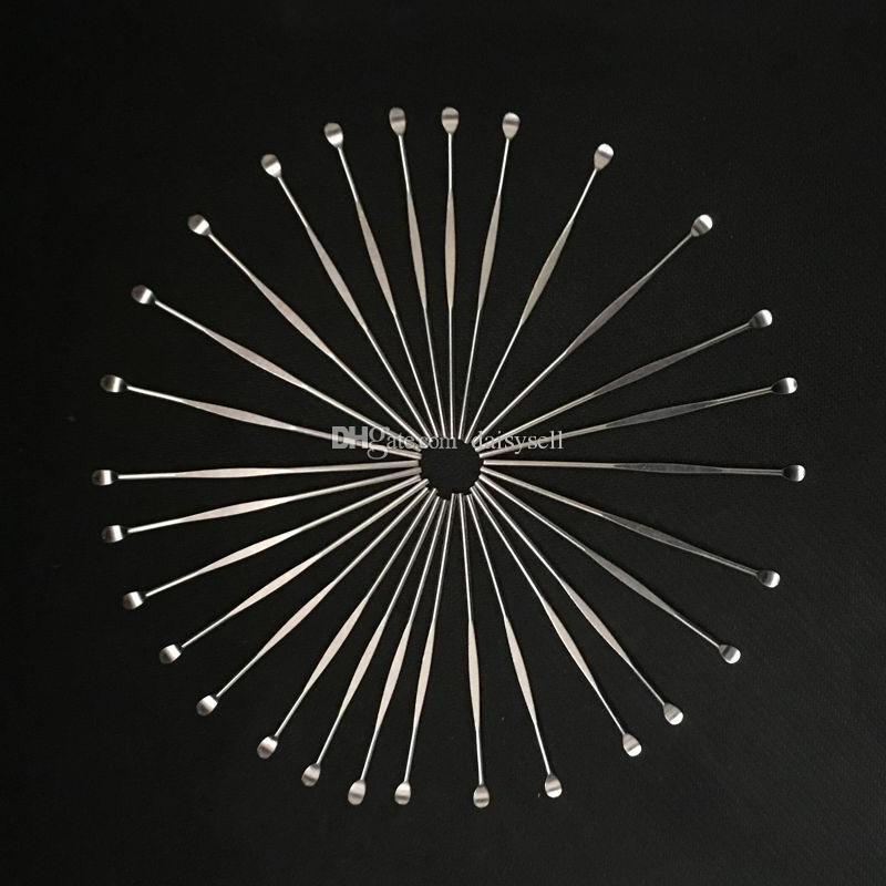 Elektronische Zigarette Wachs Daber Werkzeug-Edelstahl-Silikon-Konzentrat Dabber Werkzeug Wax Dry Ego Dry Herb Daber Werkzeug Günstigste