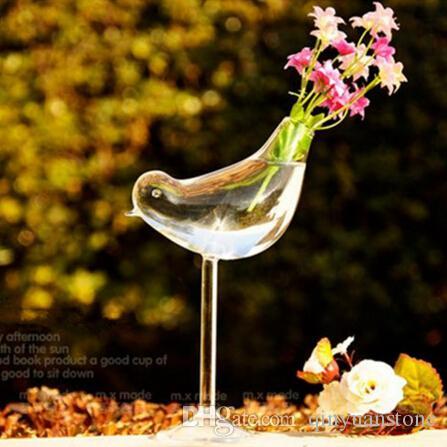 Staande gelukkige vogels glazen vazen bruiloft decoratie home decor stijlvolle design bloem potten plantenbakken