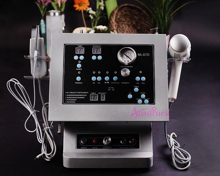 Schneller Versand Diamant Microdermabrasion Gesichtsbehandlung Ultraschall Ultraschall-Hautwäscher Dermabrasions-Peeling-Maschine