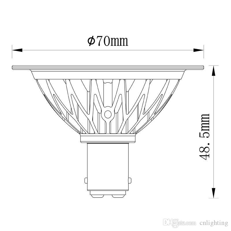 7W AR70 SCOB LED Spotlight B15 Base Dimmable AC220-240V Home/Commercial Lighting BA15D AR70 Bulb Lamps LED Spotlights