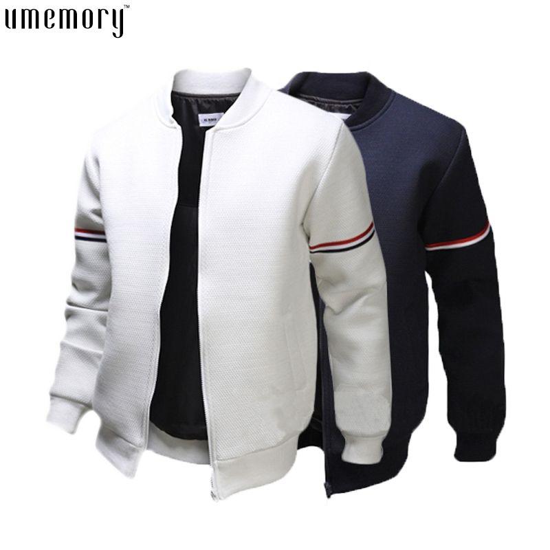 Fall Fashion Brand Casual Bomber Jacket Men Outdoor Coats Veste ...