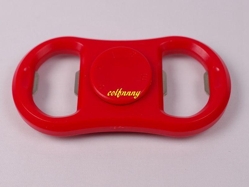 Fast shipping Metal+Plastic Bottle Opener Fidget Spinner Hand Spinner Beer Bottle Opener Kitchen Bar Tools