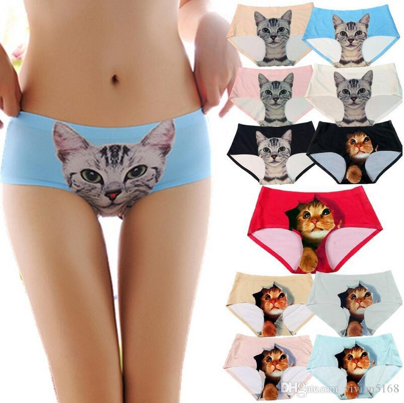 004b1c1777 2019 11 Style Sexy Seamless 3d Underwear Women Briefs Cats Print Women  Panties Female Pink Underwear Panty Sexy Panties With Boxs DHL Free From  Vivian5168