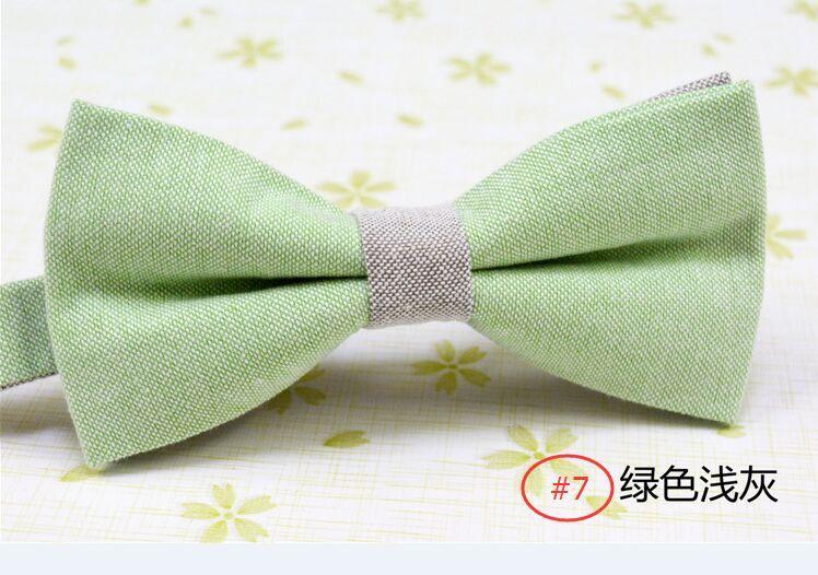 Sólida bowtie Cottonlinen 22 cores borboleta Homens presidiu sobre as gravatas para o Dia dos Pais empate Presente de Natal Livre FedEx TNT