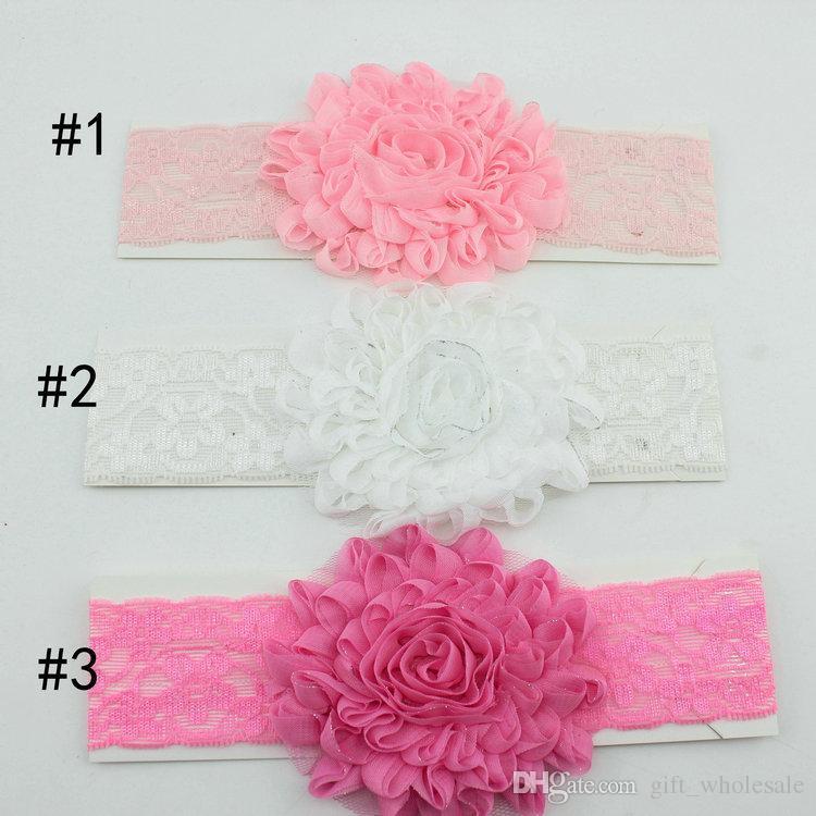 Accessoires pour les enfants Fleurs pour les cheveux Bandeaux pour le crochet Accessoires pour les cheveux de bébé Filles Bandeaux Enfants Accessoires de cheveux Enfants Bandeaux de bébé