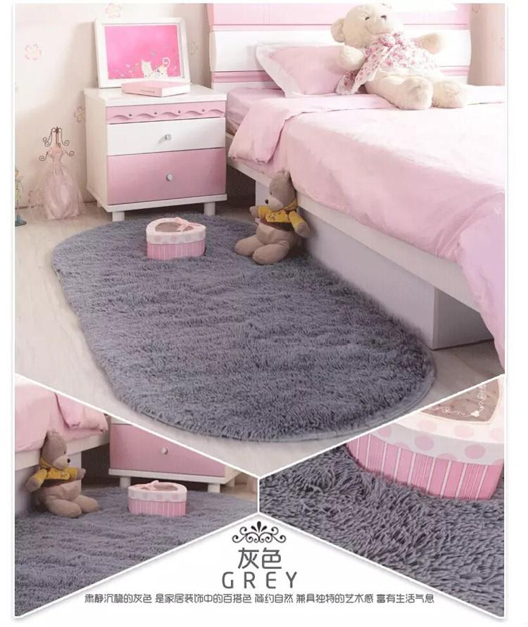 2015 Cute Shaggy Hot Sale 6001200mm Oval Short Plush Soft Carpet Area Rug Slip Resistant Floor Mat For Bedroom Living Room Installation Costs