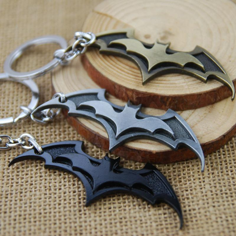 Batman Movie Keychain Super Hero Superhero Key Chain & Key Ring Holder Keyring Porte clef Gift Men Women Souvenirs F-0053