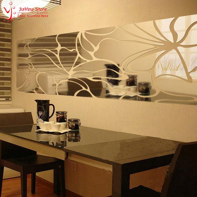 Luxury Diy 3d Mirror Wall Art Sticker Decal Modern Design Home ...