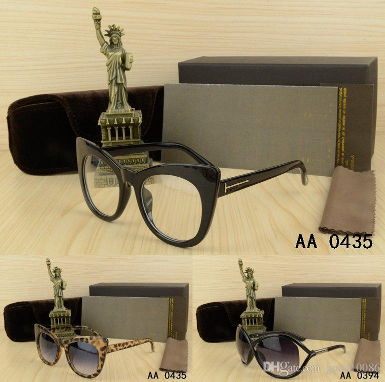 4ffa872709 Top Woman Cat Eye Big Frame Sunglasses with Box Case Lady Eyeglasses ...