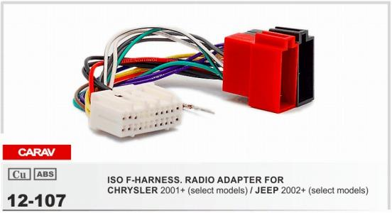 carav 12 107 iso f harness radio adapter for chrysler 2001 jeep 2004 chrysler pacifica engine diagram carav 12 107 iso f harness radio adapter for chrysler 2001 jeep 2002 wiring harness connector lead loom cable plug custom truck interior accessories