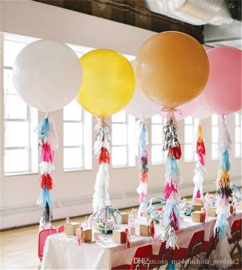 싼 36 인치 여분의 큰 라텍스 풍선 짙어지는 여러 가지 빛깔의 생일 파티 장식 / 무료 배송