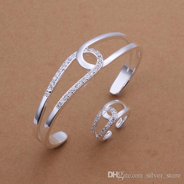 Set di gioielli croce-O-Set in argento sterling 925 di alta qualità DFMSS401 Anello da sposa in argento 925 con vendita diretta in fabbrica
