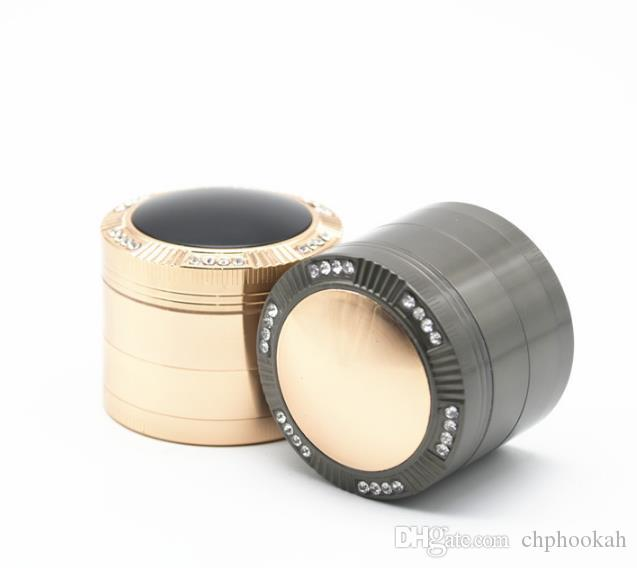 2017 New Four Layers of Zinc Alloy Smoke Mill Diameter 52MM Dome Cover with Drilled Fume