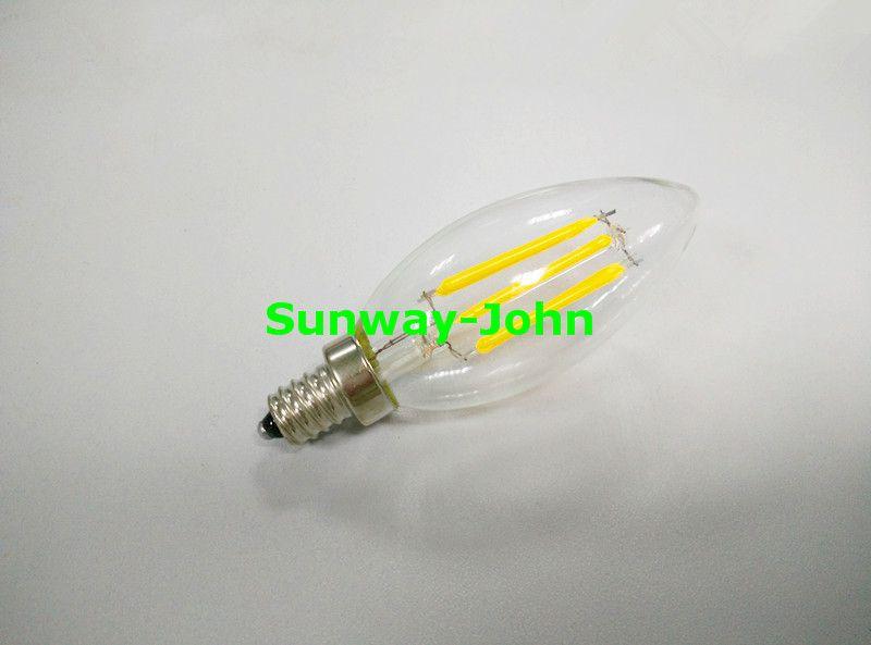 E12 E14 B22 E27 Bombilla de luz LED de filamento 2W 4W 6W bombillas regulables Sustitución de las bombillas de filamento 60W LED SAA UL 85-265