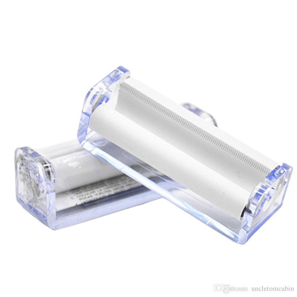 t trasparente tabacco rullo arrotolatore di sigarette 70 millimetri carta smerigliatrice vaporizzatore snuff snorter
