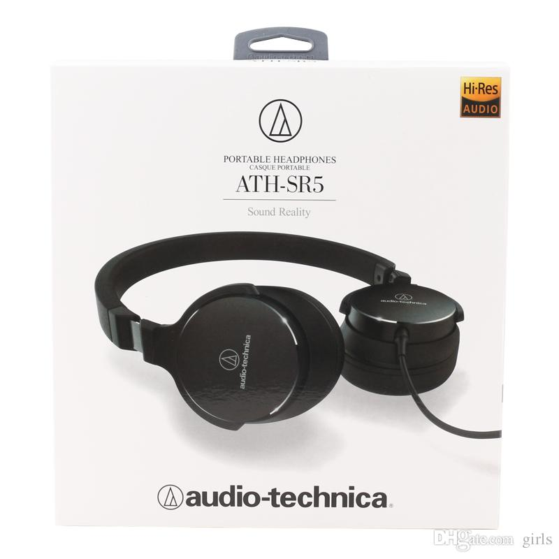 0df1840b5cf ATH SR5 Headphones Headset Wired Headphones Over Ear Stereo Black White  Colors With Retail Box AAA Quality With LOGO Package Best Headphones Under  50 Best ...