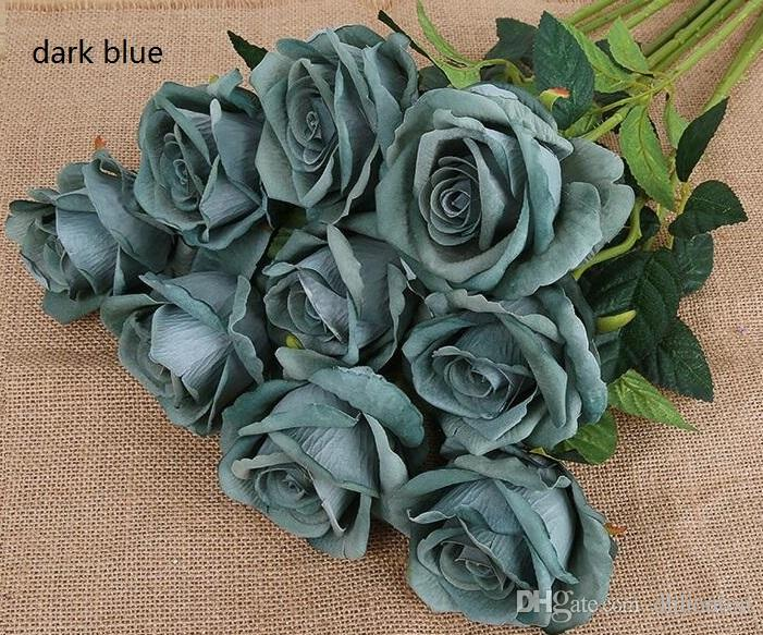 Rose Artificial Flowers Silk cloth For wedding Home Design flower Bouquet Decoration Products Supply HR009