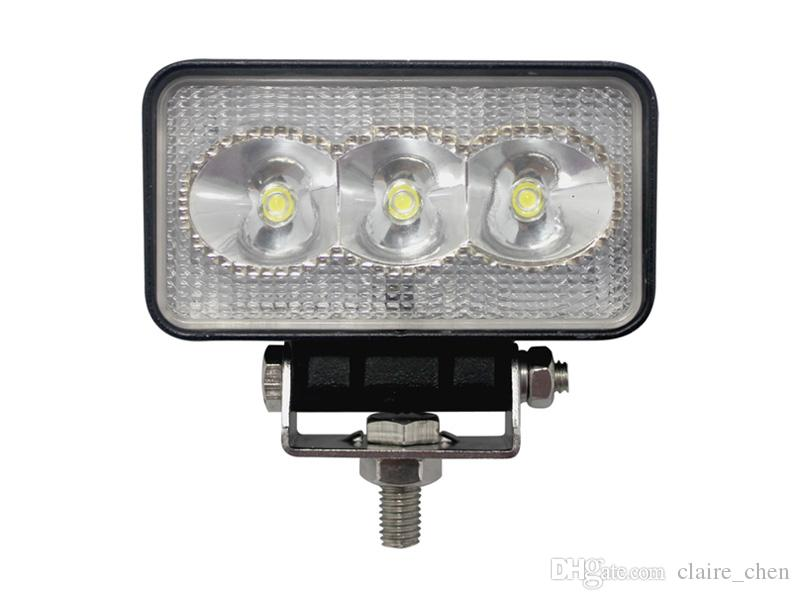 9W 4.3 Inch LED Working Light Bar Off Road ATV Headlight Front Lamps Spot Beam 3 Epistar LED Light Bar