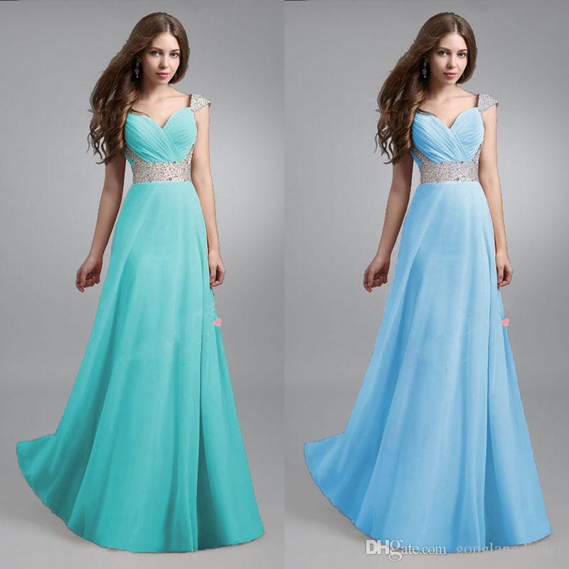 73c3f72b513f0 2016 New Lady Sexy Long Chiffon Bridesmaid Evening Formal Party Ball Gown  Prom Dress Party Dresses Cocktail Women Dressing Style From Gonglangdianzi,  ...
