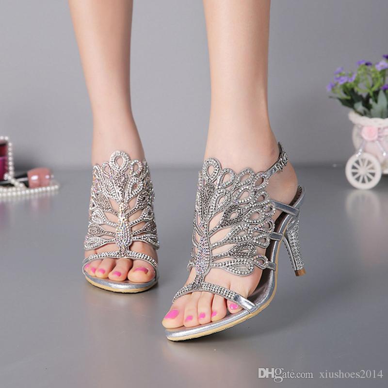 Stiletto Heel Sandals Strappy Summer Sandals Black