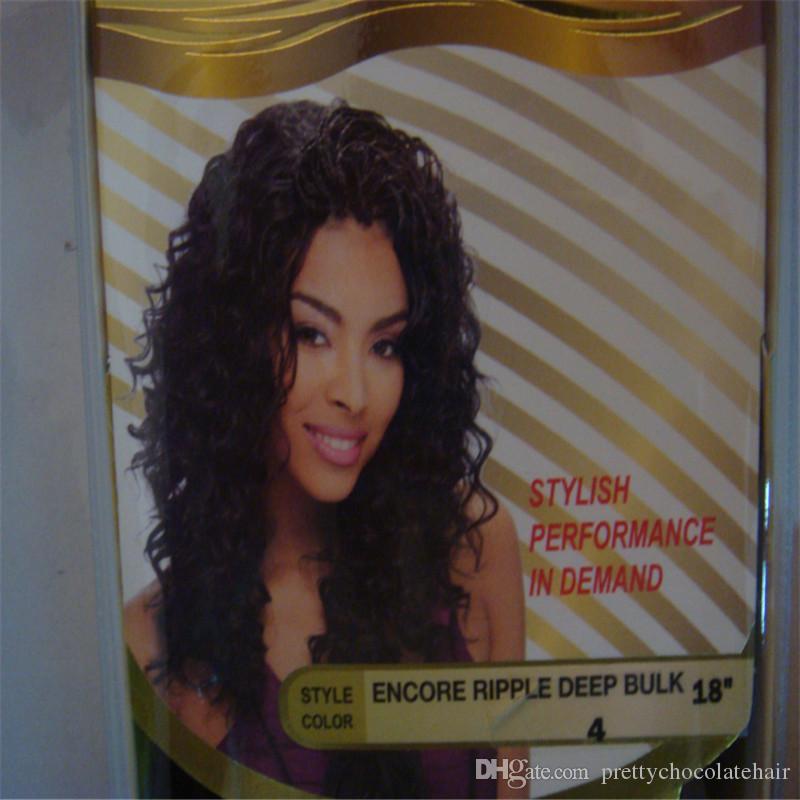 "Janet Collection ENCORE PROMIX 20""Ripple Deep Bulk Hair Human Hair Blend Futura Heat Resistant Fiber"