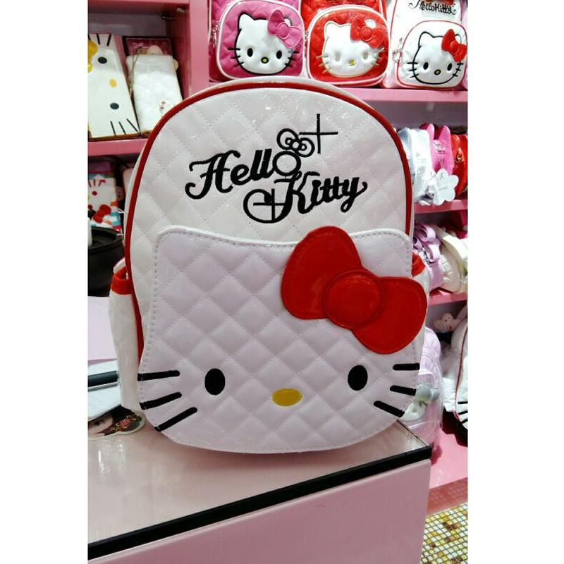 High Quality Hello Kitty Plush Backpack Girls Boys Mouse School Bags ... 30e990402a173