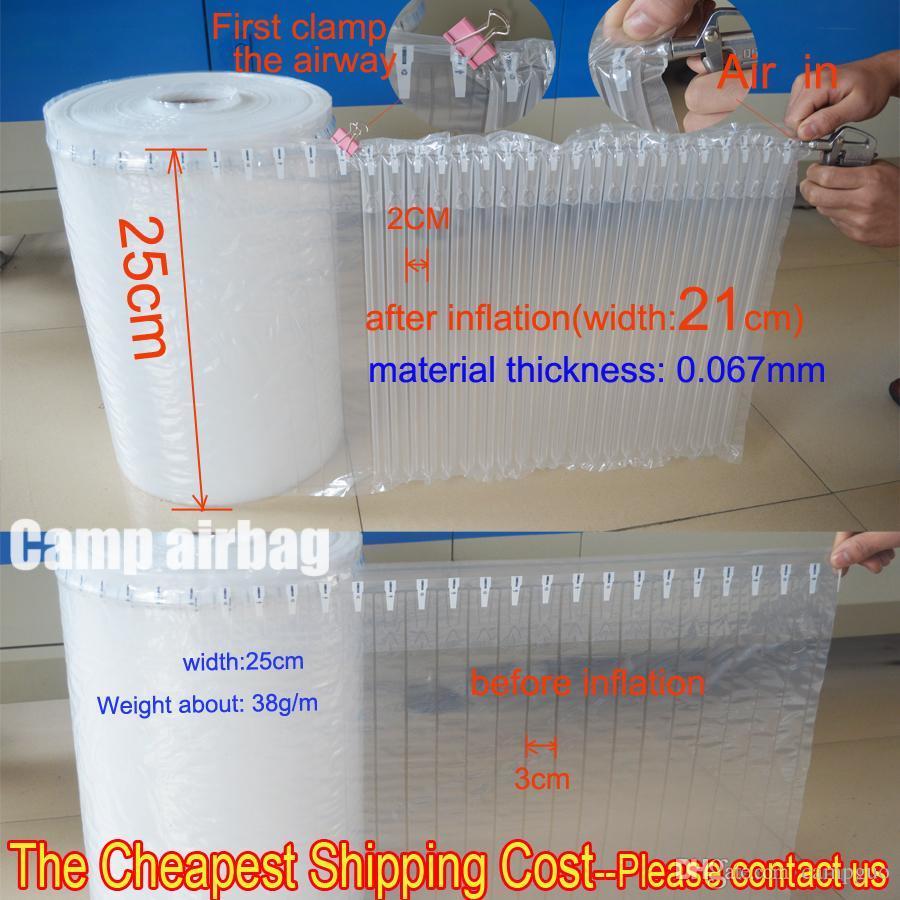 25 cm breite aufblasbare luftdunnage tasche luftsäule 3cm Pufferbeutel schützen Sie Ihr Produkt fragile Güter