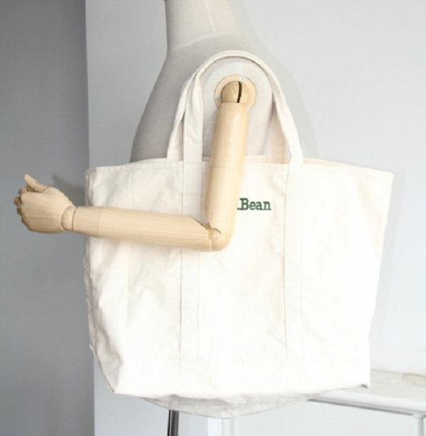 Ll Bean Brand Shopping Bag Simple Leisure Eco Friendly Handbag Casual White Canvas Tote Shop Bags From Hstbag 1905