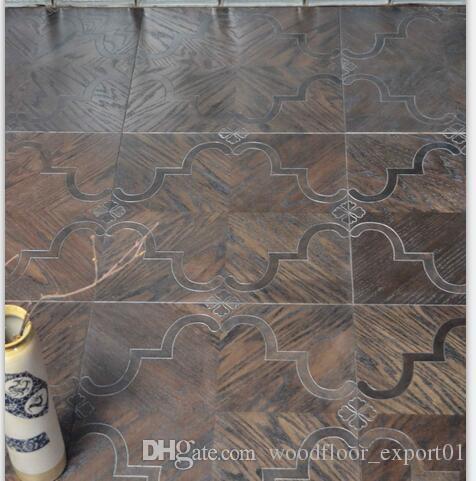 Metal Flooring Stainless Steel Wood Floor Copper Wood Floor Mosaic