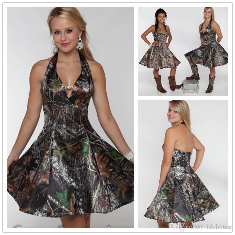 Custom Made Camo Homecoming/Bridesmaids Dresses Actual Image ...