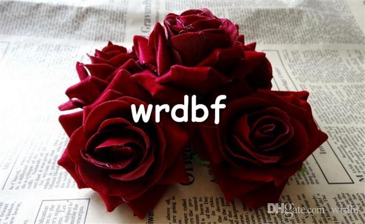 단일 벨벳 로즈 꽃 머리 Dia. 6.5cm / 2.56