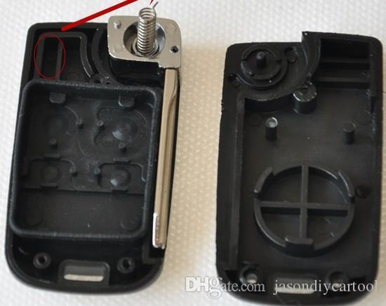 4 Düğmeler Katlanır Uzaktan FOB Anahtar Durumda Kabuk için Ford Fusion Mustang Toros Dağcı Lincoln Navigator Towncar Mercury