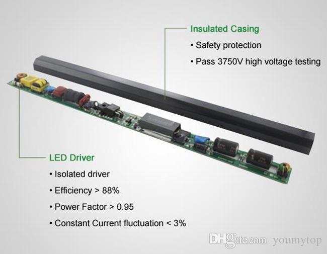V-Shaped 3ft 4ft 5ft 6ft 8ft Cooler Door Led Tubes T8 Integrated Led Tubes Double Sides SMD2835 Led Fluorescent Lights AC 85-265V