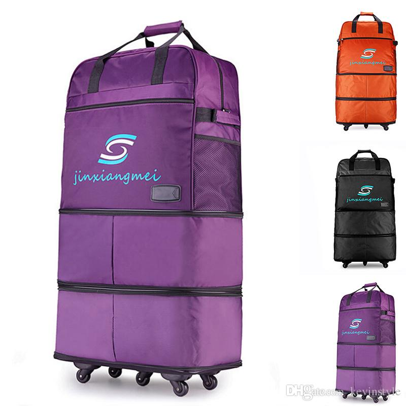 3 Layers Retractable Men Women Luggage Travel Bags Large Capacity ...