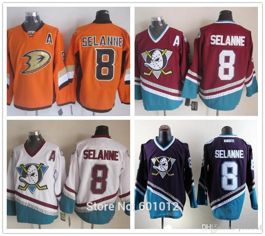 2019 Wholesale Men S 2014 Stadium Series Hockey Jerseys Anaheim Ducks  8 Teemu  Selanne Red White Purple CCM Stitched Jerseys From Probowl 24913e91d