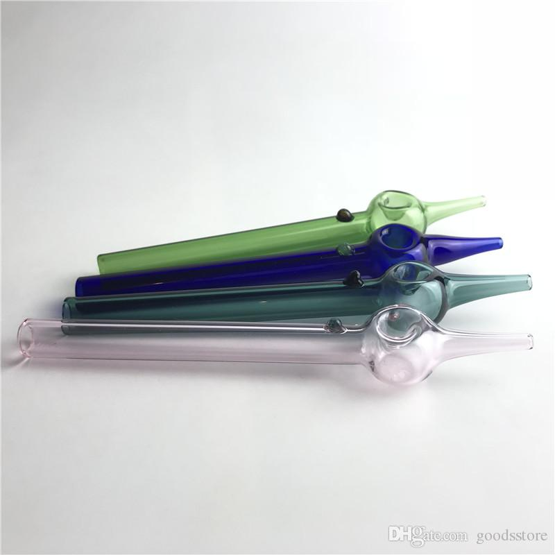 Glass Rig Sticks mit 6 Zoll 12mm 2mm Dicke Pyrex Colofrul Klarglas Stroh Rohr Mini Nektar Kollektor Tester Filter Tipps für Rauchen