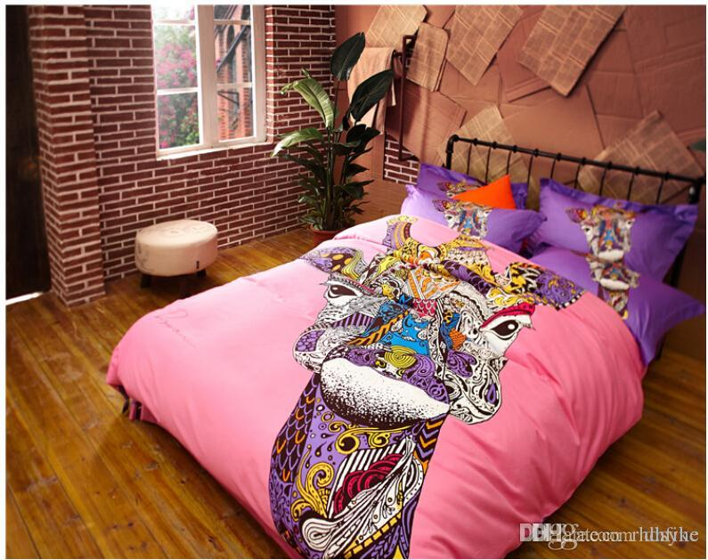 Excellent German Style Colorful Cat Horse Giraffe Bedding Sets Fashion King  CN33