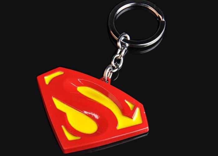 2016 new Hot Keychains movie Superman fashion key chains pendant Zinc Alloy keychain Ring