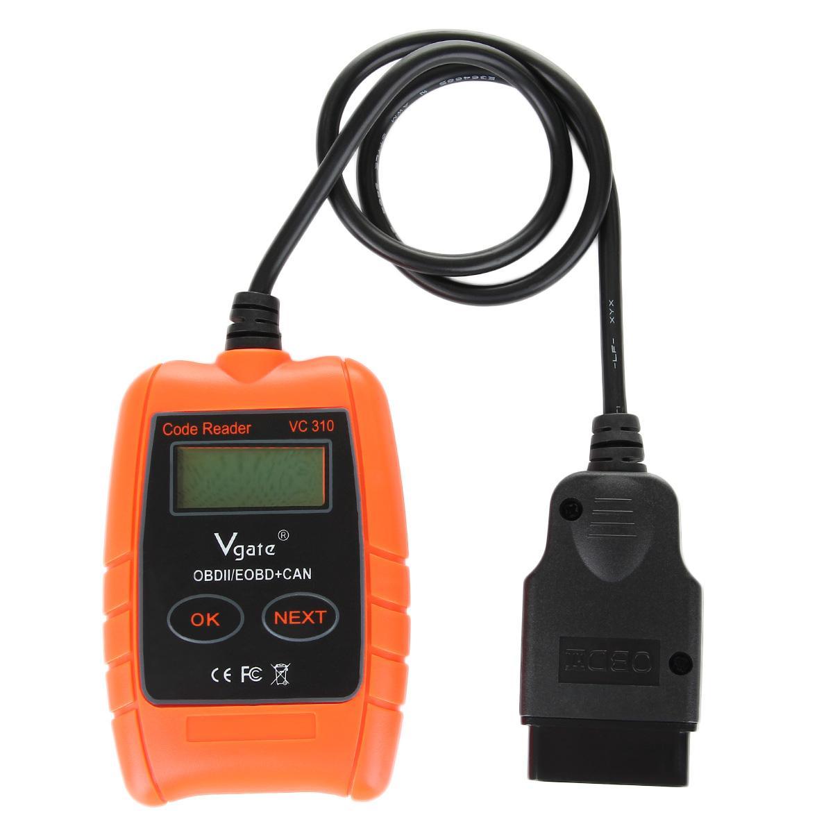 Vgate VC310 Interfaccia 16PIN Compact Universal ODBII Auto Scanner Codice Reader Auto universale strumento diagnostico Spedizione gratuita