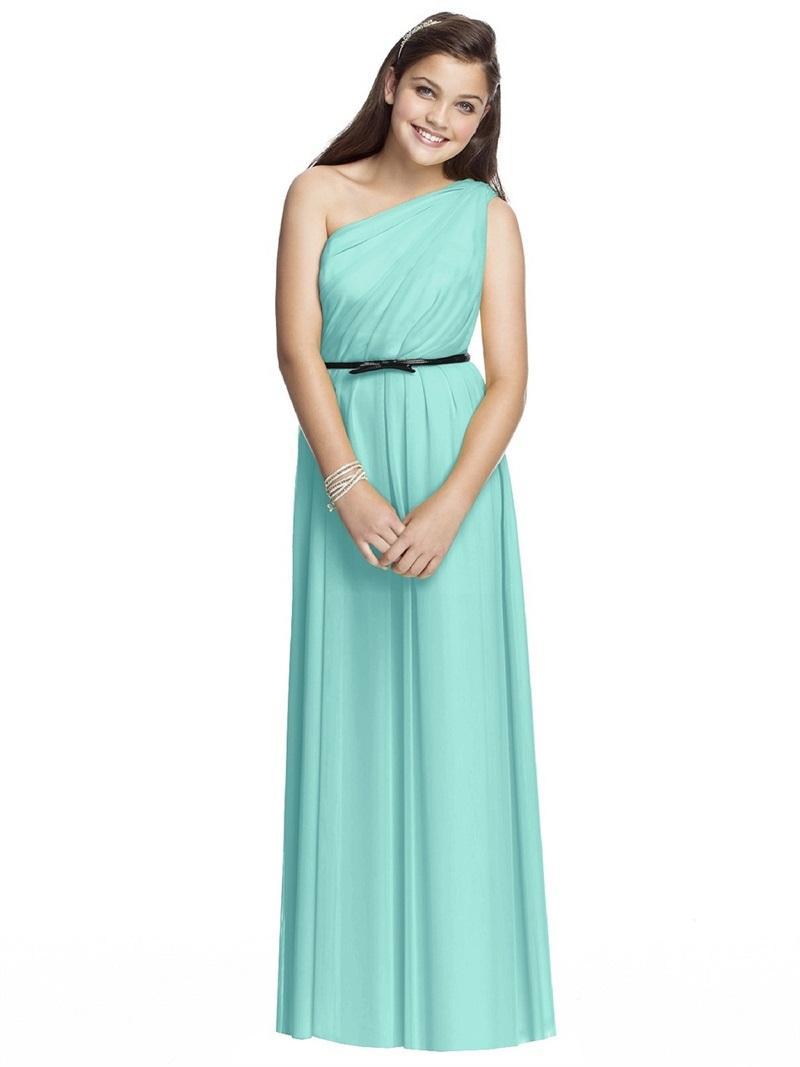 New Fashion Chiffon Young Girls Bridesmaid 2015 Long Junior ...