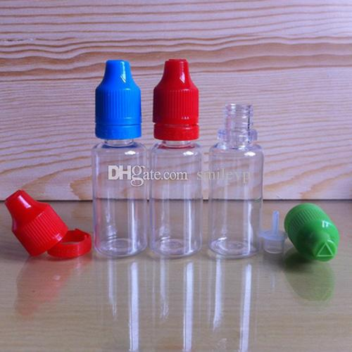 Colorful Tamper Evident Seal and Child Proof Empty Bottle 10ml 15ml 20ml 30ml E Liquid Plastic Dropper Bottles with Long Thin Tips