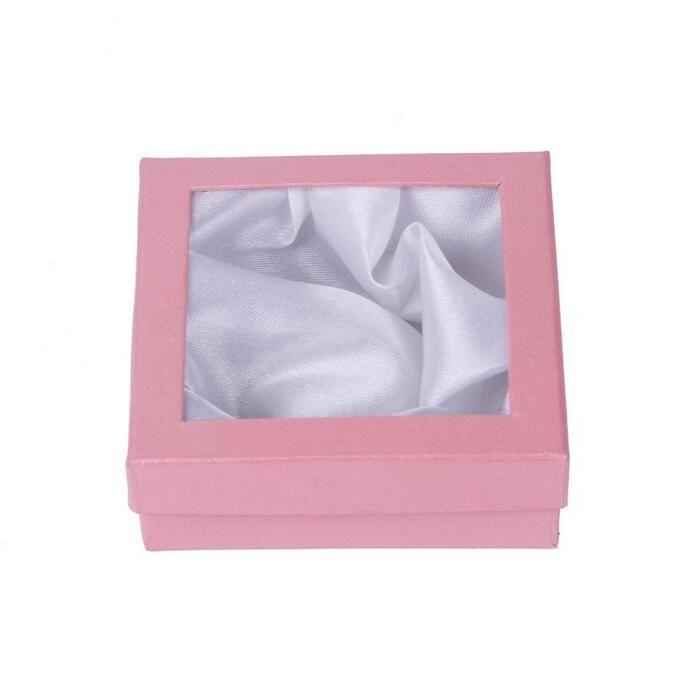Jóias Charme Pulseira Relógio Pulseira Caixas De Presente Caixa de Exibição de Casos 85x85x25mm várias Cores Enviadas Aleatoriamente