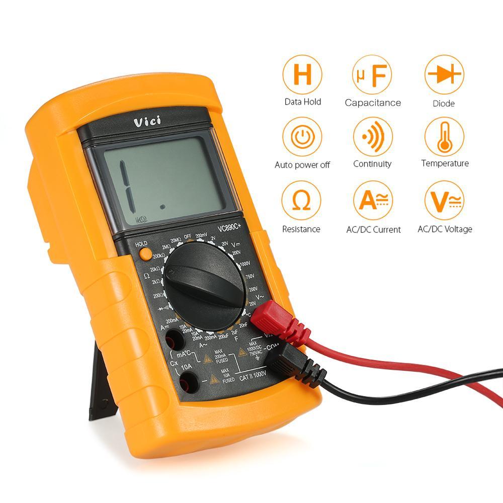 Multimètre numérique DC AC Tension Courant Compteur Résistance Capacité Diode Température Testeur Instruments électriques de détection