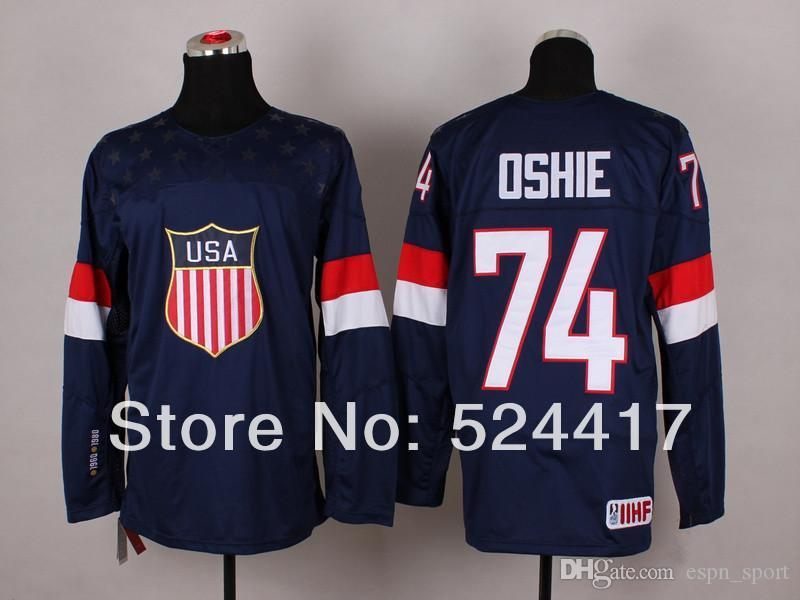 e431cfb8b 2019 Stitched 2014 Olympic Team USA#74 T.J. Oshie Jersey Sochi Winter  Olympic Ice Hockey Jersey Blue/White From Espn_sport, $36.55 | DHgate.Com
