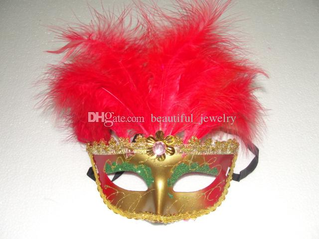 Mujeres Sexy Venecia máscara de belleza 11 villi de la raíz del traje de fiesta máscara de la boda vestido de máscara 60 unids / lote