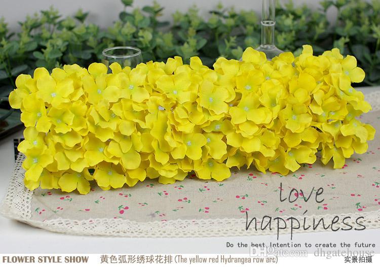 Искусственный Hydragea цветочными гирляндами 5шт 48*20 см поддельные Гортензия цветочные композиции для свадьбы, регистрация фон украшения