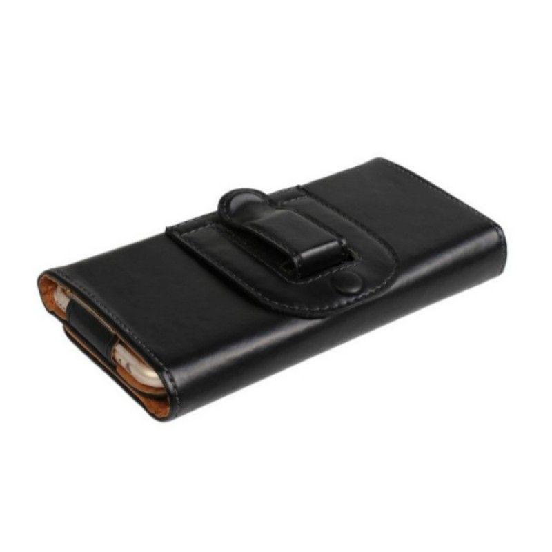 Clip universal para el cinturón PU de cuero Cinturón Funda con tapa plegable para Posh Revel Max LTE L551 / Ultra Max LTE L550 / Icon Pro HD X551
