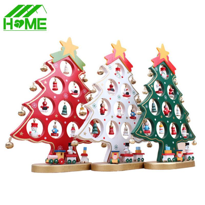 diy cartoon wooden artificial christmas tree decorations ornaments wood mini christmas trees gift ornament table decoration all christmas decorations
